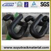 Spring steel elastic rail clip for railroad construction