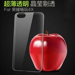ultra thin clear crystal tpu soft back cover case for huawei honor 4x