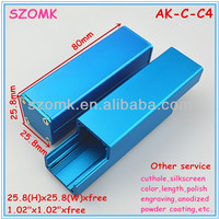 small blue Aluminum junction box