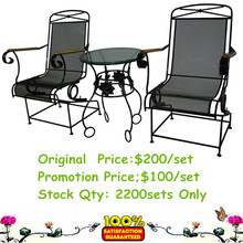 Promotional wrought iron garden table and chairs