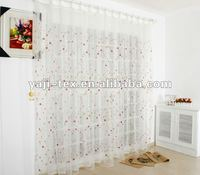 2012 new 100% printed sheer curtain