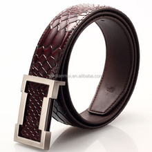 2015 fashion italian leather belts wholesale/Belt With Two Row Stitch/pure leather belt for men