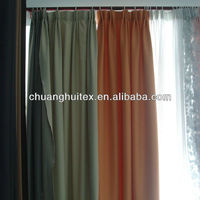 100% polyester wide width orange faux linen fabric ready made window curtain