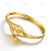 KZCZ022 Brass Zircon Bangle Gold Plated Jewelry