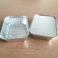 Tin foil food box, silver plate, aluminum packaging container