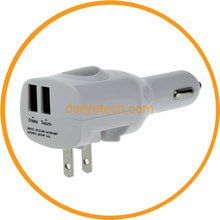 Universal 5V 2.1A Wall Charger Dual Port USB Car Charger for iPad Air for iPhone from Dailyetech
