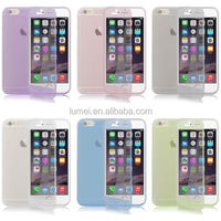 For iphone 6/6s Crystal Clear TPU Gel Silicone Flip Case Cover High Quality