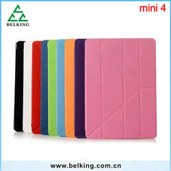 Transparent Smart Cover for iPad mini 234 protector case, for iPad mini 4 folding Stand leather case