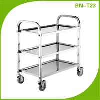 Stainless Steel Food Service Utility Trolley 3 Shelf Commercial Kitchen Restaurant, S/S Service Cart (Cheap Price)