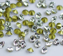 Wholesale Price Pointback Glass Chaton Stones,Fancy Diamante For Clothing Accessories