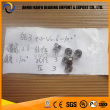 683ZZ Track Roller Bearing sizes 3x7x3 mm