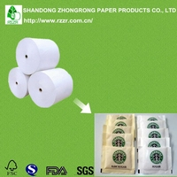 one side pe coated grease proof/water proof paper for sugar packaging