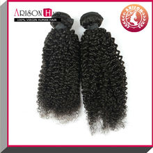 2015 5A wholesale 100% brazilian virgin virgin brazilian micro loop mongolian kinky curly hair weave 4a