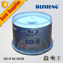 RISHENG 50gb blu ray Printablewholesale disc 50package/blu ray blank disc 50gb printable dvd/ bd-r 50gb blu ray dvd disc