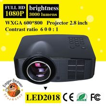 Usb led projector built-in battery newest trade assurance supply used led projector screen video projector 800x600