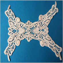 Embroidery cotton lace collar applique designs for ladies
