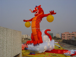 2015 Giant inflatable dragon model in hot sale,advertising inflatable