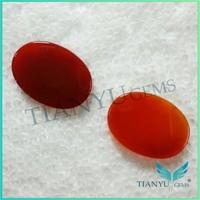 Natural semi-precious stone red carnelian oval agate cut