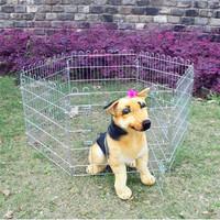 6 Panel Folded Protable Zinc Wire Pet Fence