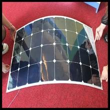 cheap 100w mono semi-flexible solar panel for car
