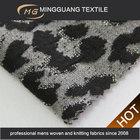 Leopardo luxo tecido terno de negócio de grãos para calças de vestuário senhoras