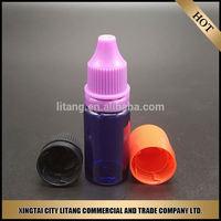 Wholesale Clean 30ml plastic dropper bottles and pe cover for e liquid