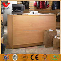 Modern used wood counter table/Clothes shop counter table design/Shop counter design for garment stores