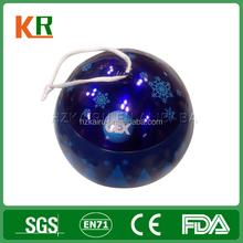 With String Snow Printing Metal Gift Christmas Ball