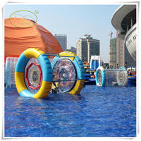 Best popular inflatable water roller, durable floating water wheel ,download hamster ball