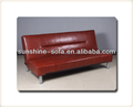 estilo de vida americano de cuero exclusivo sofá cama