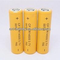 Lithium ion battery AA size 14500 700mAh 3.7V rechargable
