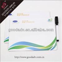 Factory production children fridge magnet whiteboard with mark pen