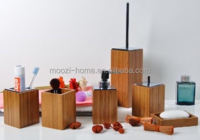 natuurlijke houten bad sets, hout badkamer accessoires producten badkamer sets product ID
