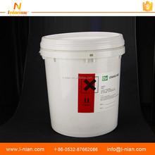 custom print waterproof chemical oil UV resistant warning chemical plastic bucket label stickers