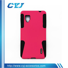 2014 fashion protector for LG,2 in 1 plastic cheap phone cases