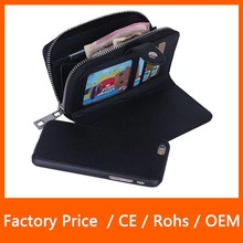 Fashion Runway Leather Card Case Cover Wallet For iPhone 6 Plus Multi-function case