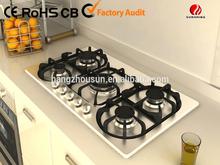 5 burner stainless steel gas cooker
