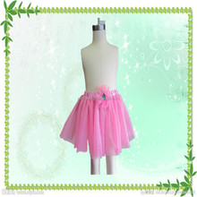 Wholesale fashion halloween party pink flower tutu dress for girl
