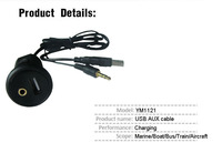 9v 2a emergency promotional usb car battery charger with 3.5 audio output