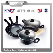 7pcs Forged Aluminum Cookware Set with Marble Coating