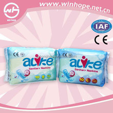 cotton surface sanitary napkin tampon large pads with double wings