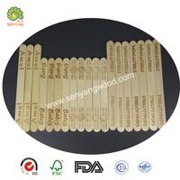 custom printed birch wooden popsicle sticks
