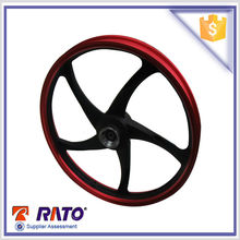Chinese motorcycle spare parts RT110-7 110cc cheap aluminum front wheels wholesale