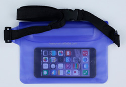 2015 fashion pvc waterproof waist pouch for swimming