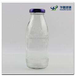 Wholesale 275ml 9oz custom glass juice bottle for fruit juice and soft drinking