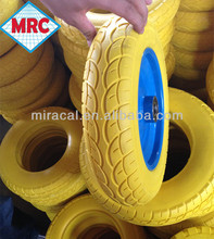China 14 inch pu wheel with metal core