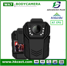 WA7 action cam 170degree IP68 64GB 8hrs loop circle special charging dock design Ambaralla A7 security camera system