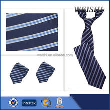 hot sale skinny dark blue stripe women's necktie