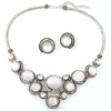 Silver cat eye chunky necklace,girl festival accessory jewelry wholesale(SWTPR1355)
