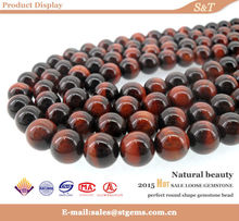 Best wholesale 10mm AAA grade red tiger eye red round bead natural gemstone
